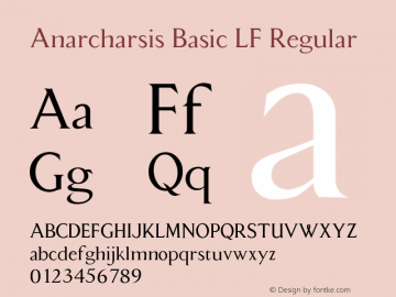 AnarcharsisBasicLF Macromedia Fontographer 4.1.5 11/6/2002图片样张