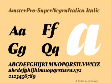AmsterPro-SuperNegraItalica Version 1.000;PS 001.000;hotconv 1.0.70;makeotf.lib2.5.58329;com.myfonts.easy.pampatype.amster.pro-super-negra-italica.wfkit2.version.4mQJ图片样张