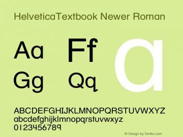 HelveticaTextbook Newer Roman Version 1.00;March 9, 2019;FontCreator 11.5.0.2422 64-bit图片样张