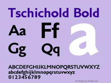 Tschichold-Bold Version 2.00图片样张