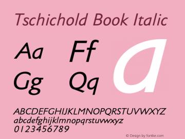 Tschichold-BookItalic Version 1.00图片样张