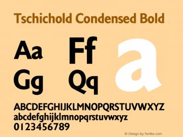 Tschichold-CondensedBold Version 1.00图片样张