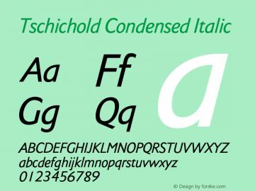 Tschichold-CondensedItalic Version 1.00图片样张