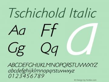 Tschichold-Italic Version 1.00图片样张