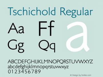 Tschichold-Regular Version 1.00图片样张