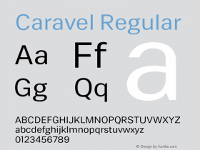 Caravel-Regular Version 1.000图片样张