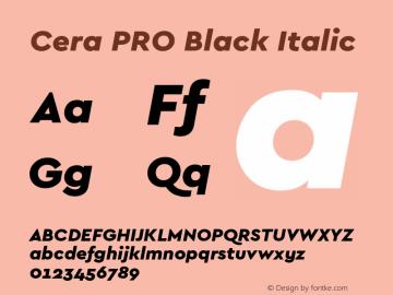 CeraPRO-BlackItalic Version 1.001图片样张