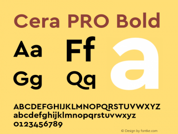 CeraPRO-Bold Version 1.001图片样张