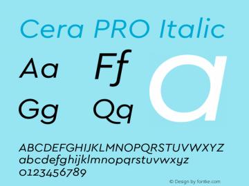 CeraPRO-Italic Version 1.001图片样张
