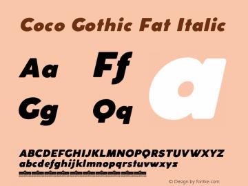 CocoGothic-FatItalic Version 2.001图片样张