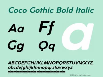 CocoGothic-BoldItalic Version 3.001图片样张