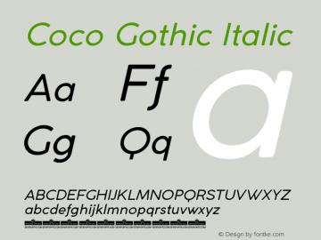 CocoGothic-Italic Version 3.001图片样张