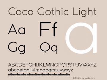 CocoGothic-Light Version 2.001图片样张