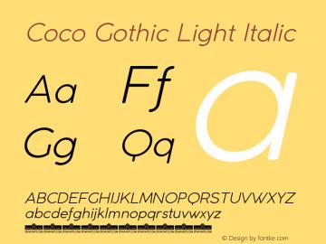 CocoGothic-LightItalic Version 2.001图片样张