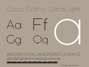 CocoGothic-UltraLight Version 2.001图片样张