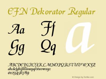 EFN Dekorator Regular 2.0EE图片样张