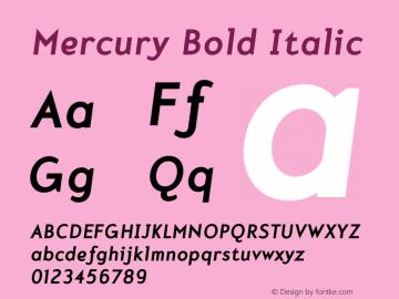 Mercury-BoldItalic 001.000图片样张
