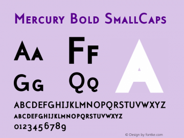 Mercury-BoldSmallCaps 001.000图片样张