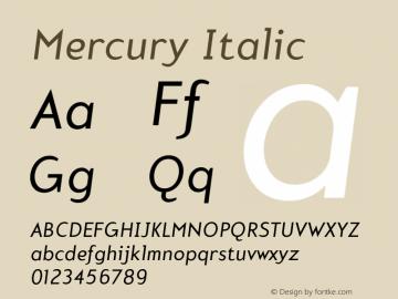 Mercury-Italic 001.000图片样张
