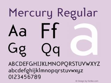 Mercury-Regular 001.000图片样张