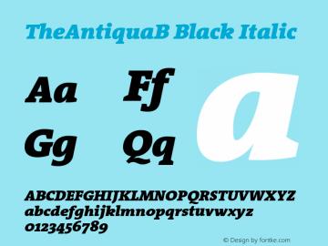 TheAntiquaB-BlackItalic 001.000图片样张