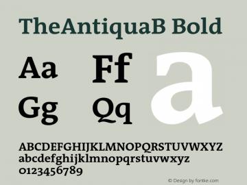 TheAntiquaB-Bold 001.000图片样张