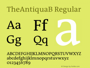 TheAntiquaB-Regular 001.000图片样张