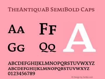 TheAntiquaB-SemiBoldCaps 001.000图片样张