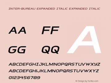 Inter-Bureau Expanded Italic Version 1.0; 2019圖片樣張