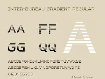 Inter-Bureau Gradient Version 1.0; 2019圖片樣張