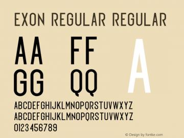 Exon regular Version 1.00;March 21, 2019;FontCreator 11.5.0.2427 32-bit圖片樣張