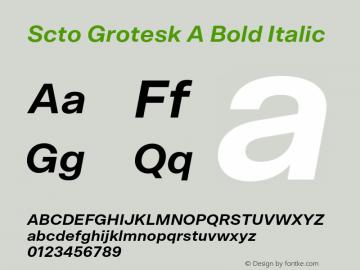 Scto Grotesk A Font,SctoGroteskA-BoldItalic Font,Scto