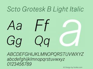 Scto Grotesk B Font,SctoGroteskB-LightItalic Font,Scto