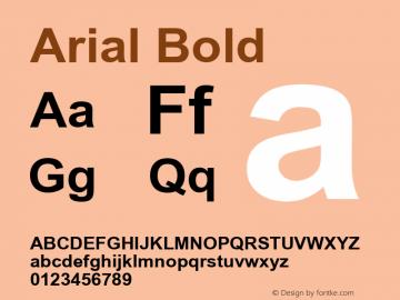Arial  Bold Macromedia Fontographer 4.1.5 9/21/2009图片样张