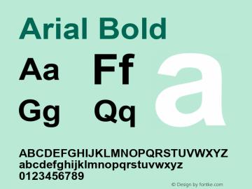Arial Bold Version 6.88图片样张
