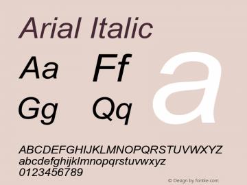 Arial Italic Version 5.21图片样张