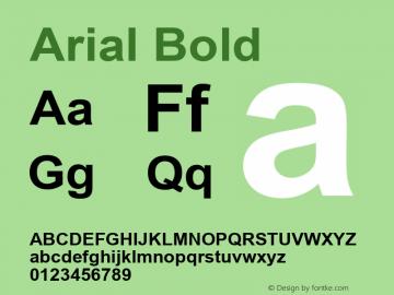 Arial Bold Version 5.21图片样张