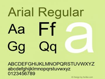 Arial Version 5.21图片样张