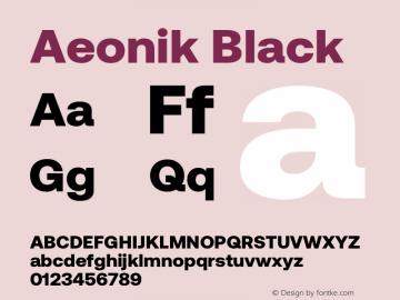 Aeonik Black Version 1.000图片样张