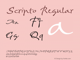 Scripto-Regular Version 1.001 | wf-rip DC20161010图片样张