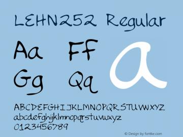 LEHN252 Regular Copyright (c)1996 Expert Software, Inc.图片样张