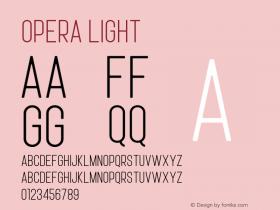 Opera Light Version 1.002;Fontself Maker 3.0.1图片样张