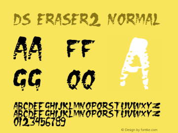 DS Eraser2 Normal Version 001.000 Font Sample