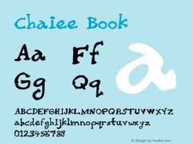 Chaiee Book Version 2.00 Font Sample