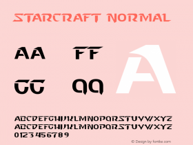 Starcraft Normal Unknown Font Sample