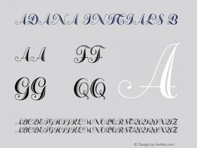 Adana Initials B Version 2.001;July 30, 2018;FontCreator 11.5.0.2427 64-bit图片样张