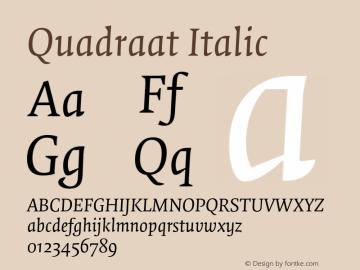 Quadraat-Italic Version 7.504图片样张