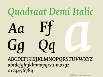 Quadraat-DemiItalic Version 7.504图片样张