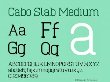 Cabo Slab Medium Version 1.002;Fontself Maker 3.1.1图片样张