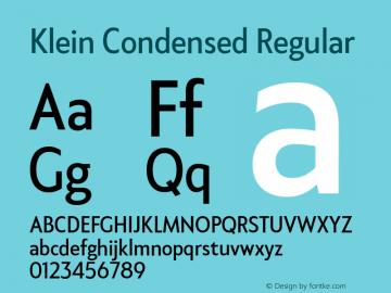 KleinCondensed-Regular Version 1.102;hotconv 1.0.109;makeotfexe 2.5.65596图片样张